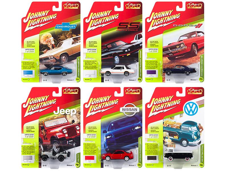 Classic Gold 2018 Release 1 Set B 6 1/64 Diecast Model Cars Johnny Lightning JLCG013 B