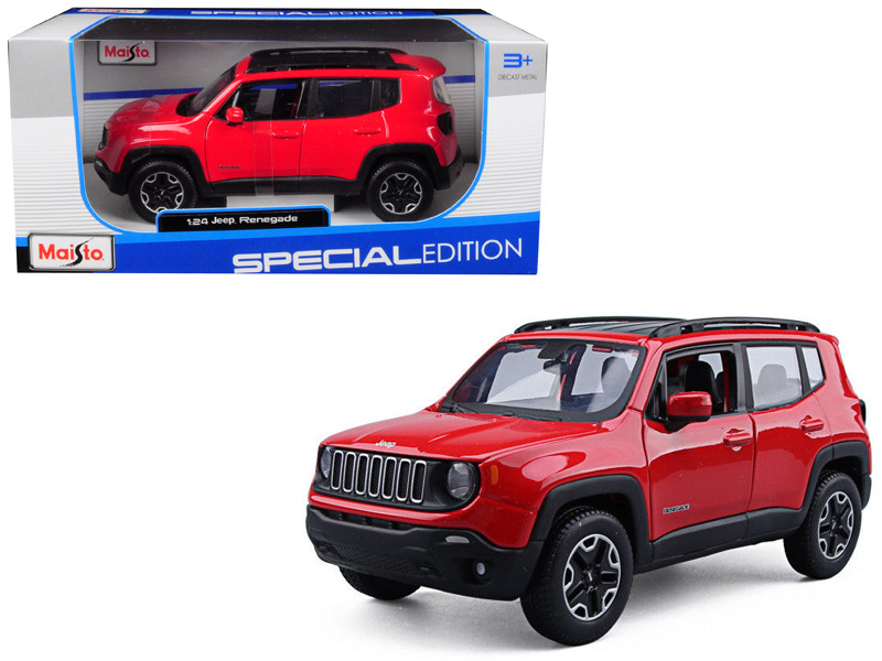 Jeep Renegade Red 1/24 Diecast Model Car Maisto 31282