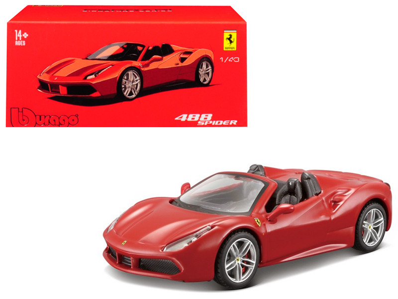 Ferrari 488 Spider Red Signature Series 1/43 Diecast Model Car Bburago 36905
