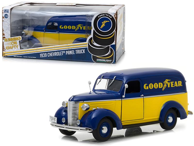 1939 Chevrolet Panel Truck Goodyear Tires Running on Empty Series 1/24 Diecast Model Car Greenlight 18243