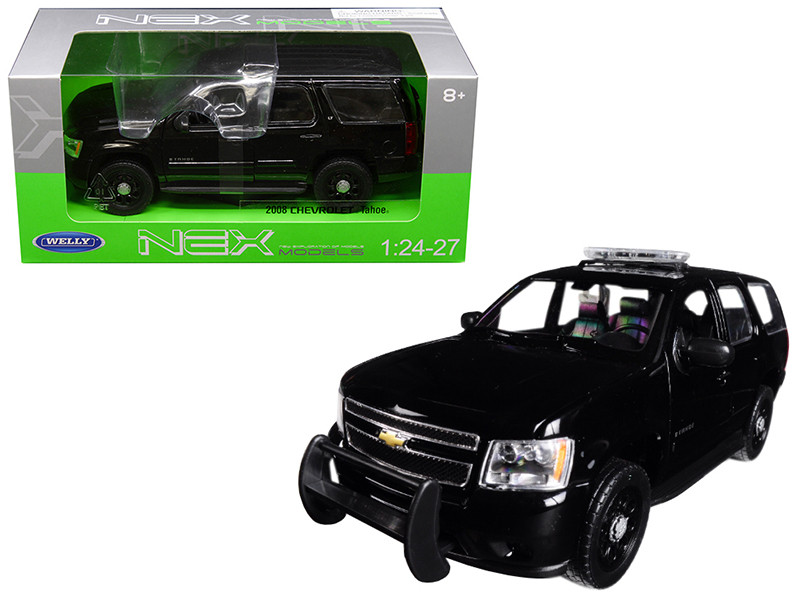 2008 Chevrolet Tahoe Unmarked Police Version Black 1/24 1/27 Diecast Model Car Welly 22509