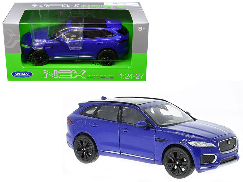 Jaguar F-Pace Blue 1/24 1/27 Diecast Model Car Welly 24070