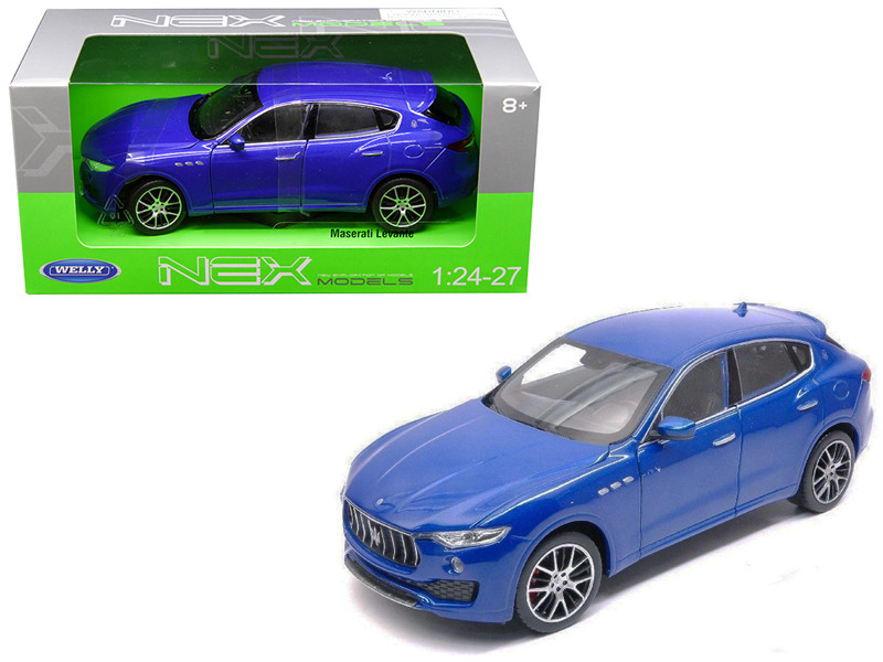Maserati Levante Blue 1/24 1/27 Diecast Model Car Welly 24078