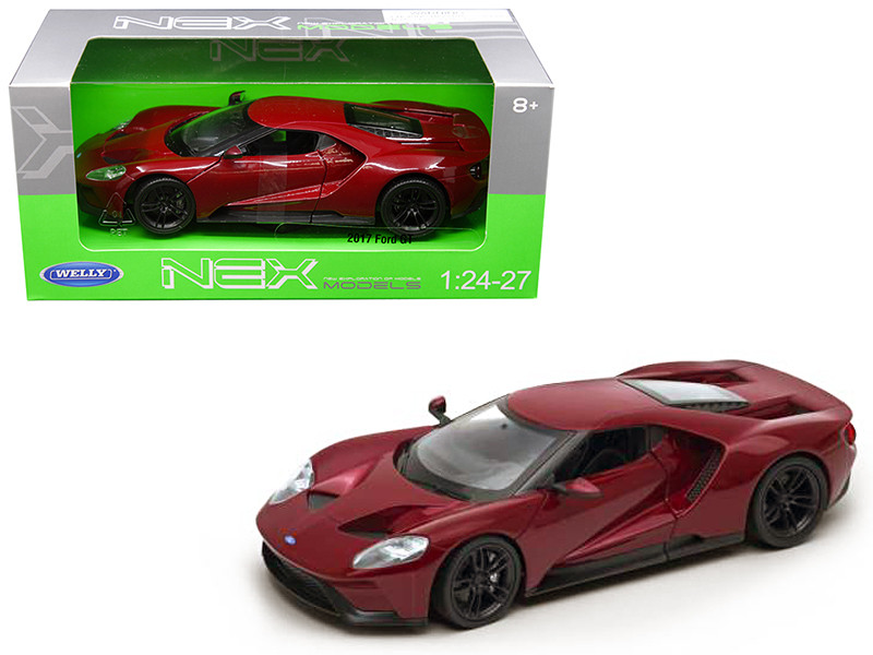 2017 Ford GT Red 1/24 1/27 Diecast Model Car Welly 24082