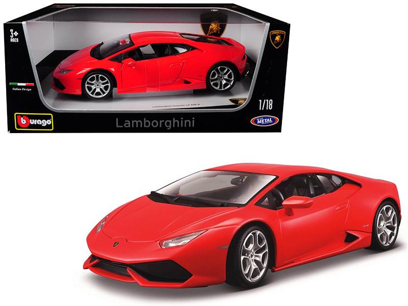 Lamborghini Huracan LP 610-4 Red 1/18 Diecast Car Model Bburago 11038