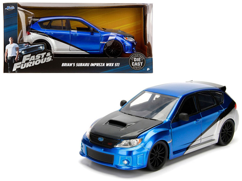 Brian's Subaru Impreza WRX STI Fast Furious Movie 1/24 Diecast Model Car Jada 99514