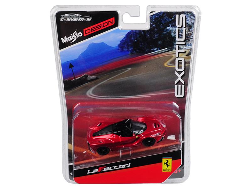 Ferrari LaFerrari Red Black Wheels Exotics Limited Edition 2400 pieces Worldwide 1/64 Diecast Model Car Maisto 15494-MC1
