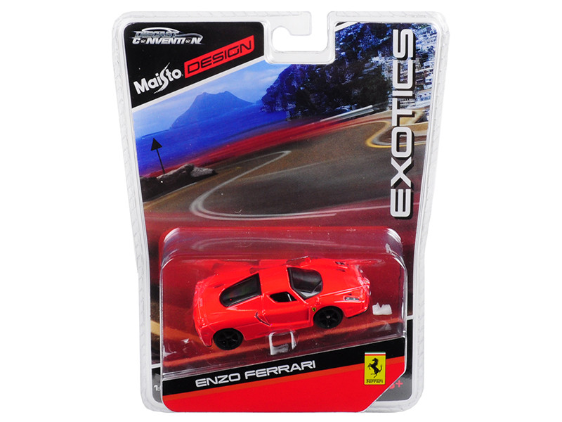 Enzo Ferrari Red Black Wheels Exotics Limited Edition 2400 pieces Worldwide 1/64 Diecast Model Car Maisto 15494-MC3