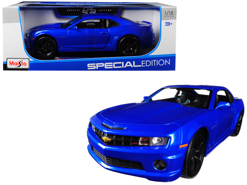 2010 Chevrolet Camaro RS SS Light Blue Black Wheels 1/18 Diecast Model Car Maisto 31173