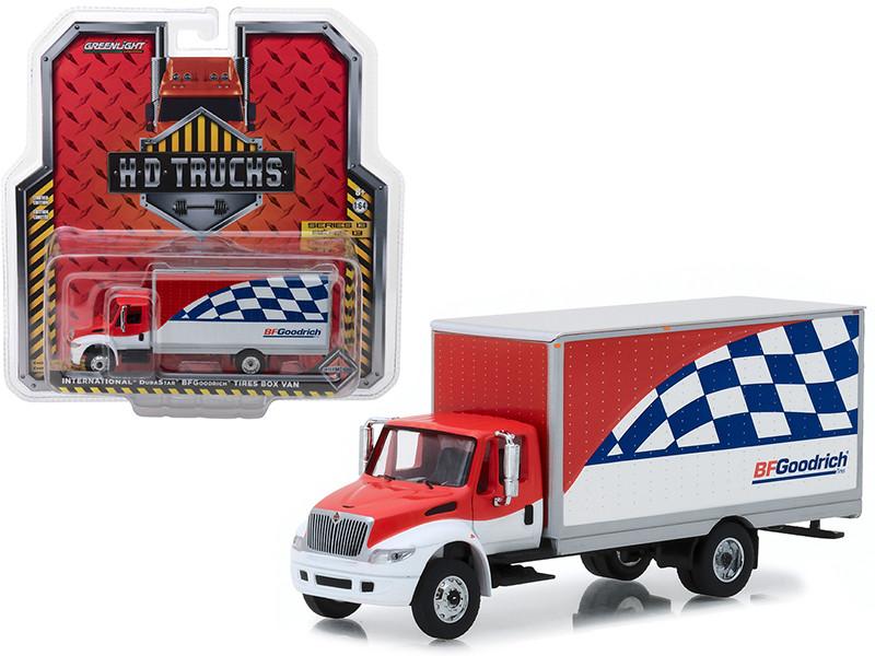International Durastar BFGoodrich Tires Box Van HD Trucks Series 13 1/64 Diecast Model Greenlight 33130 C