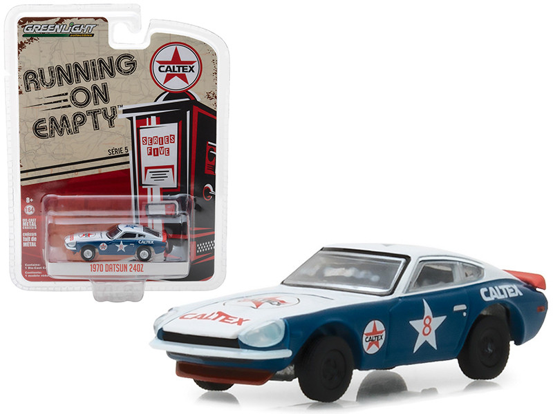 1970 Datsun 240Z Caltex #8 Running on Empty Series 5 1/64 Diecast Model Car Greenlight 41050 E