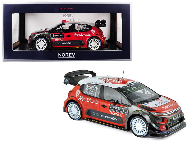 Citroen C3 WRC Rally 2017 Official Presentation Version 1/18 Diecast Model Car Norev 181630