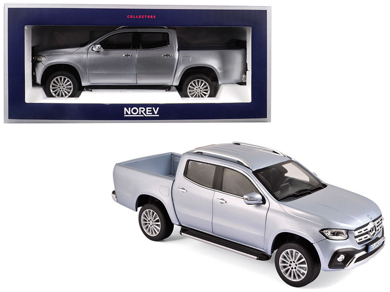 2017 Mercedes Benz X Class Pickup Truck Silver 1/18 Diecast Model Car Norev 183420