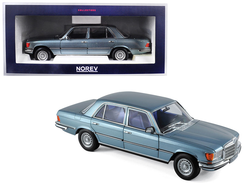 1976 Mercedes Benz 450 SEL 6.9 Blue Metallic 1/18 Diecast Model Car Norev 183457