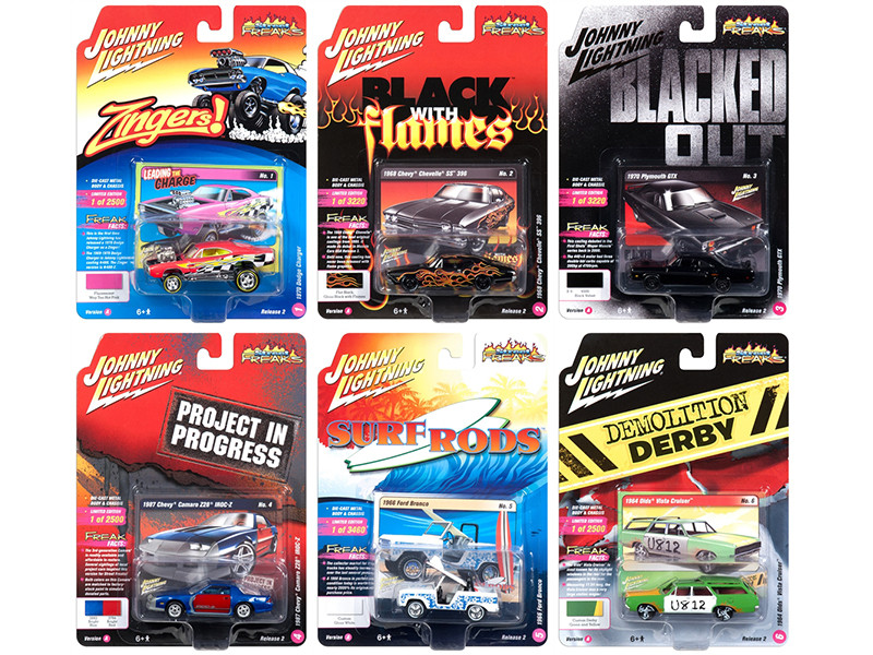 Street Freaks 2018 Release 2 Set A of 6 Cars 1/64 Diecast Models by Johnny Lightning