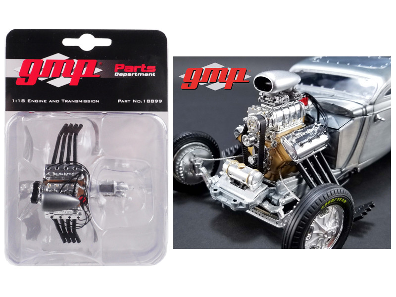 Drag Engine Transmission Replica 1934 Blown Altered Coupe 1/18 Model GMP 18899