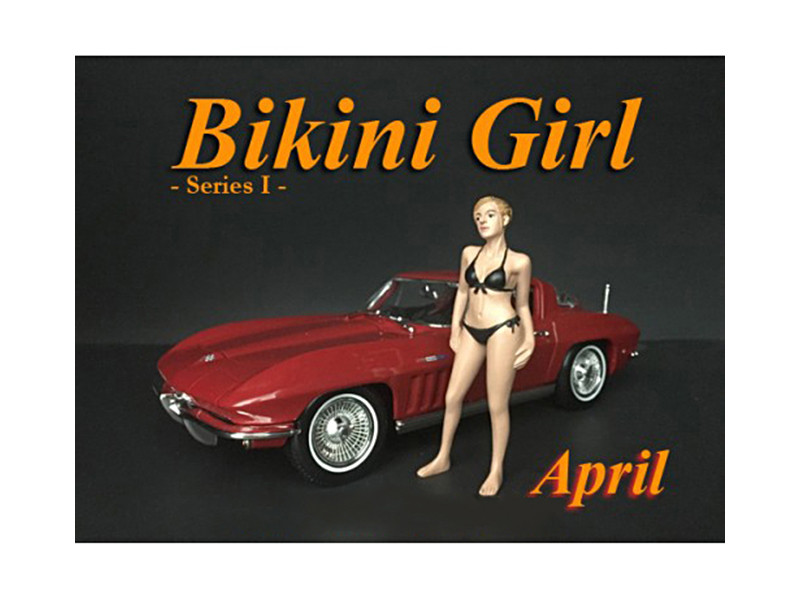 April Bikini Calendar Girl Figure 1/24 Scale Models American Diorama 38268