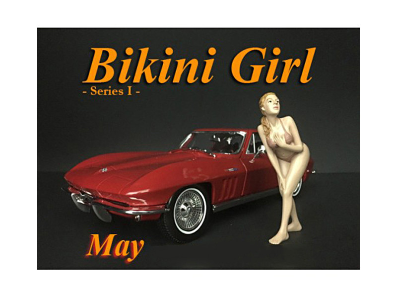 May Bikini Calendar Girl Figure 1/24 Scale Models American Diorama 38269