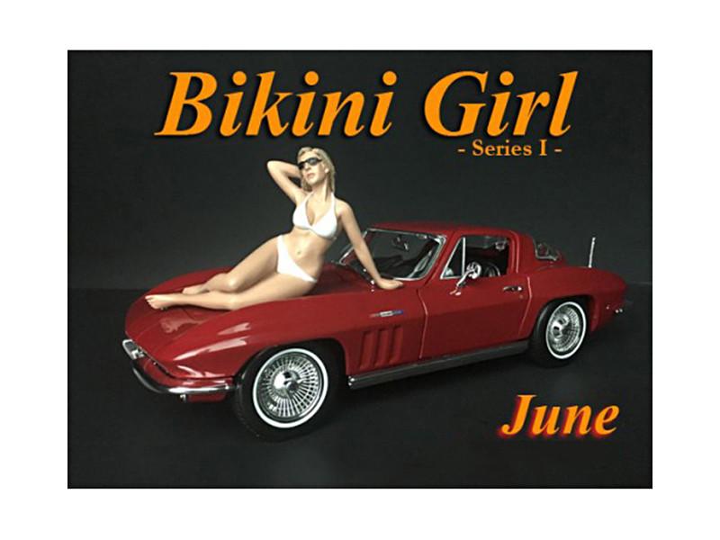 June Bikini Calendar Girl Figure 1/24 Scale Models American Diorama 38270
