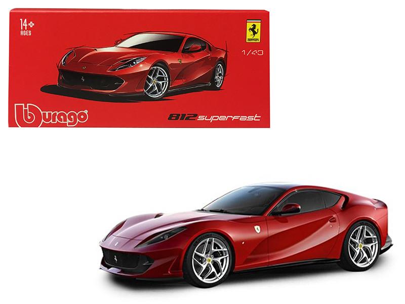 Ferrari 812 Superfast Red Signature Series 1/43 Diecast Model Car Bburago 36908