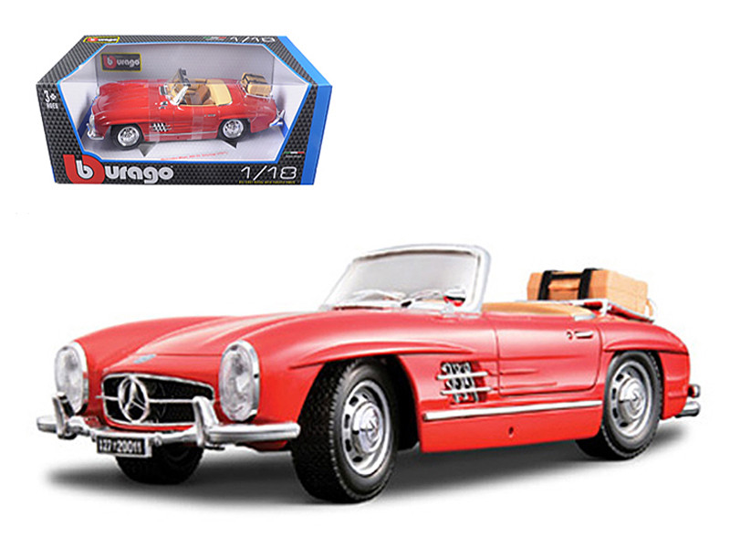 1957 Mercedes 300SL Touring Convertible Red 1/18 Diecast Model Car Bburago 12049