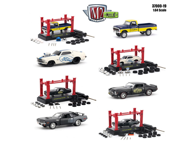 Model Kit 4 pieces Set Release 19 1/64 Diecast Model Cars M2 Machines 37000-19