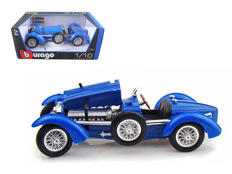 1934 Bugatti Type 59 Blue 1/18 Diecast Model Car Bburago 12062