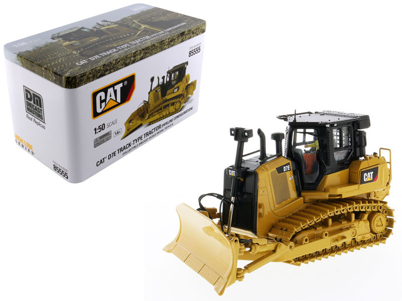 CAT Caterpillar D7E Track Type Tractor Dozer Pipeline Configuration Operator High Line Series 1/50 Diecast Model Diecast Masters 85555