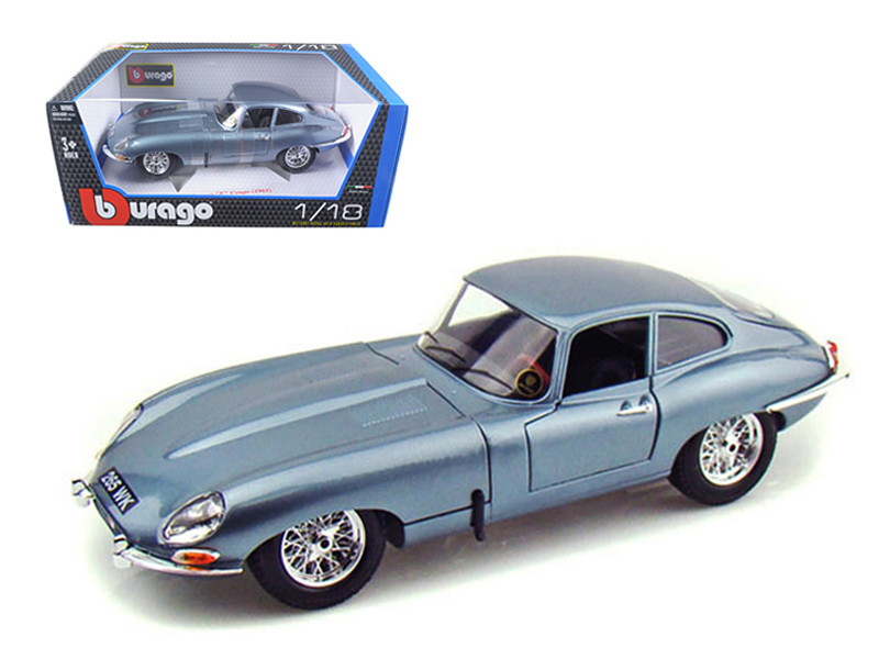 1961 Jaguar E Type Coupe Blue 1/18 Diecast Model Car Bburago 12044
