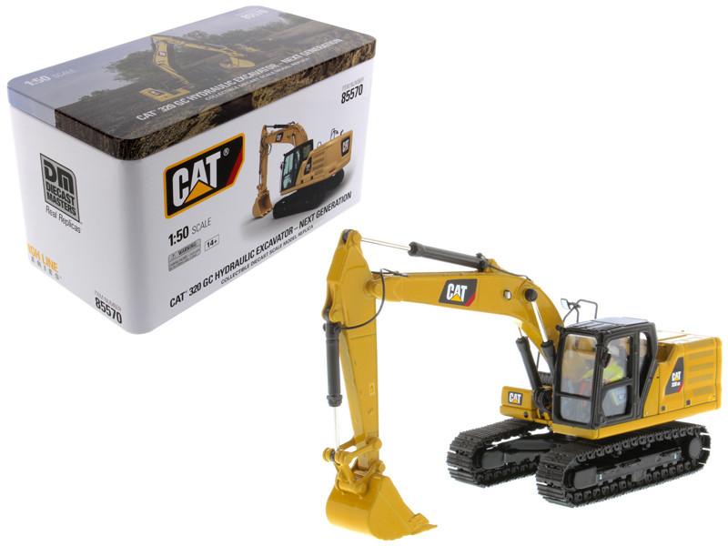 CAT Caterpillar 320 GC Hydraulic Excavator Operator Next Generation Design High Line Series 1/50 Diecast Model Diecast Masters 85570