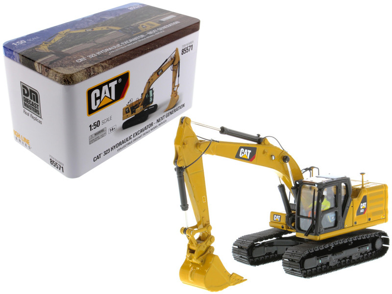 CAT Caterpillar 323 Hydraulic Excavator Operator Next Generation Design High Line Series 1/50 Diecast Model Diecast Masters 85571