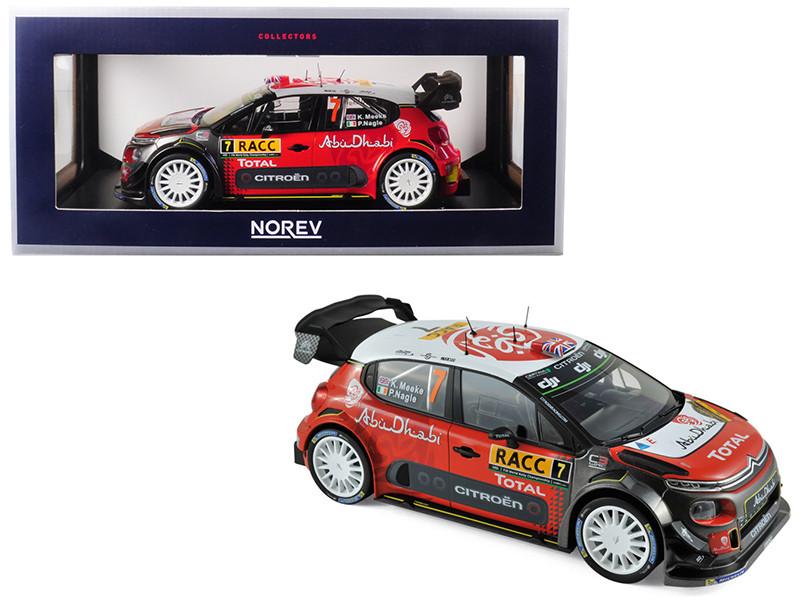 Citroen C3 WRC #7 Meeke Nagle Winner 2017 Spain 1/18 Diecast Model Car Norev 181634