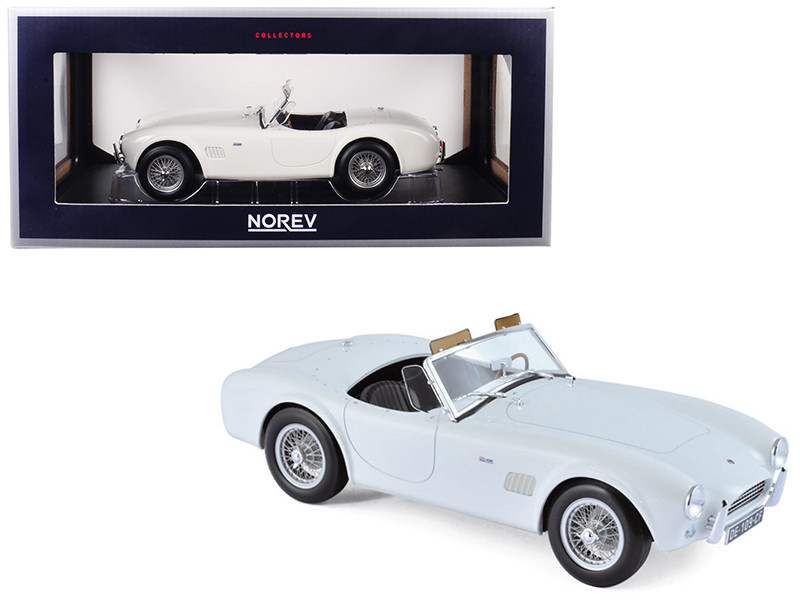 1963 Shelby AC Cobra 289 Roadster White 1/18 Diecast Model Car Norev 182752