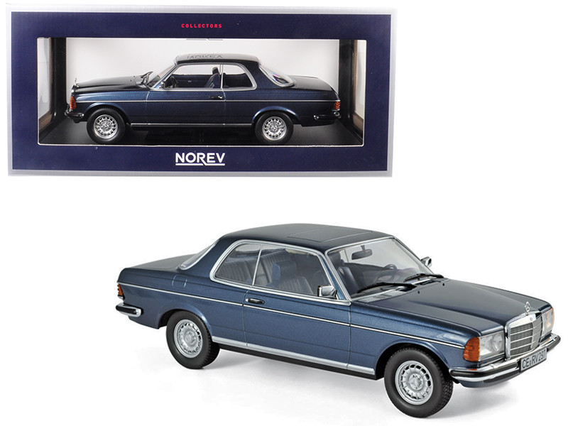 1980 Mercedes Benz 280 CE Coupe Blue Metallic 1/18 Diecast Model Car Norev 183589