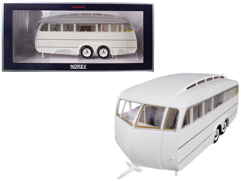 1955 Henon Travel Trailer White 1/18 Model Norev 185726