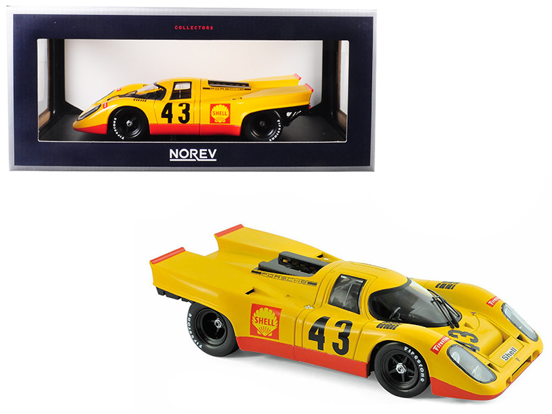 Porsche 917K Shell #43 Laine van Lennep 5 Place 1970 1000 km Spa 1/18 Diecast Model Car Norev 187585