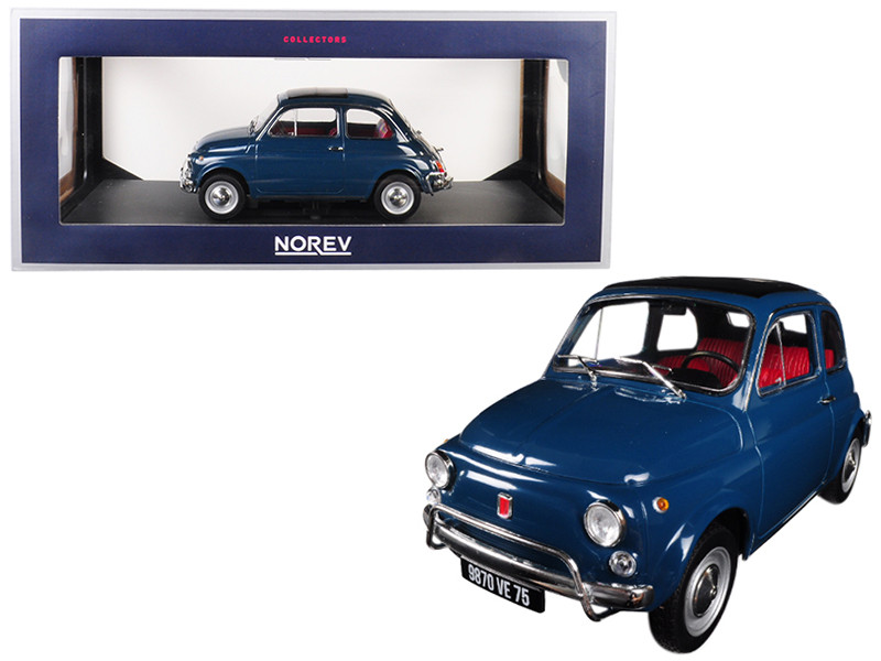 1968 Fiat 500 L Blue Turchese 1/18 Diecast Model Car Norev 187770