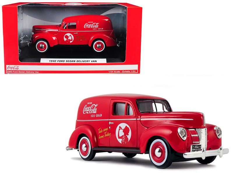 1940 Ford Sedan Delivery Van Coca Cola Red 1/24 Diecast Model Car Motorcity Classics 424194