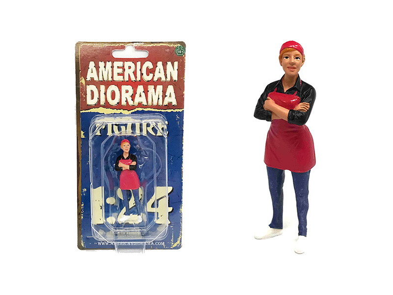 Food Truck Chef Gloria Figure 1/24 Scale Models American Diorama 38442