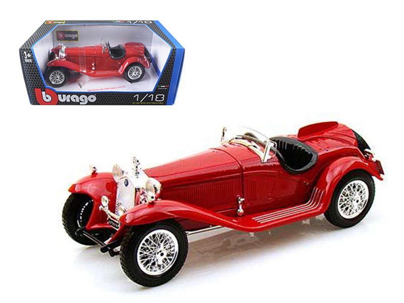 1932 Alfa Romeo 8C 2300 Spider Touring Red 1/18 Diecast Model Car Bburago 12063