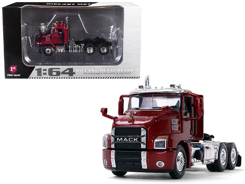Mack Anthem Day Cab Lacquer Red 1/64 Diecast Model First Gear 60-0407