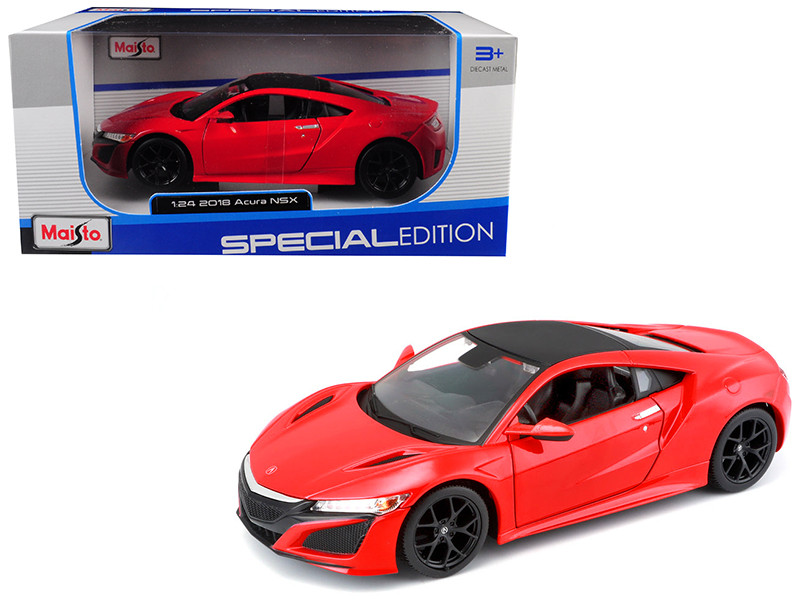 2018 Acura NSX Red Black Top 1/24 Diecast Model Car Maisto 31234