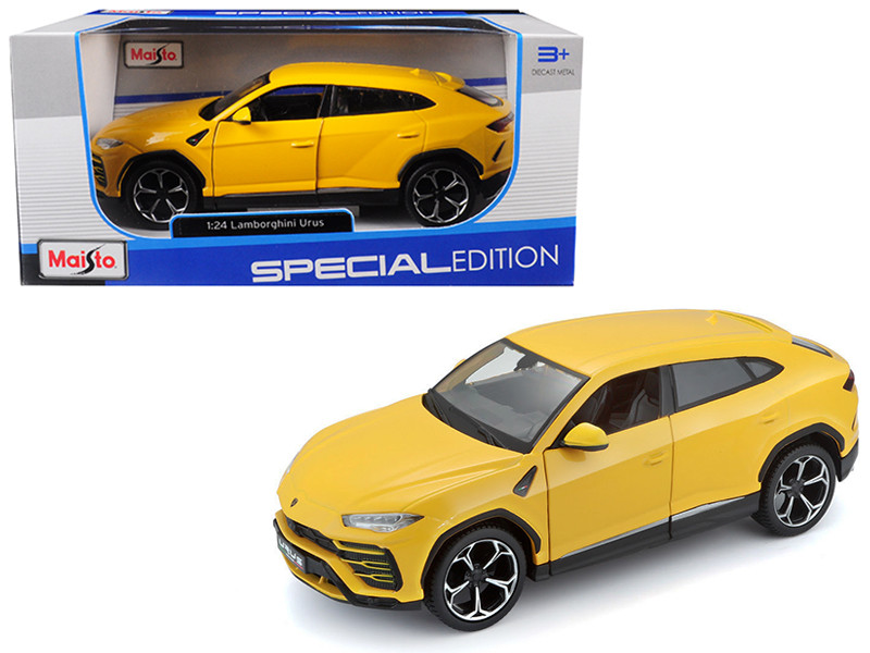 Lamborghini Urus Yellow 1/24 Diecast Model Car Maisto 31519