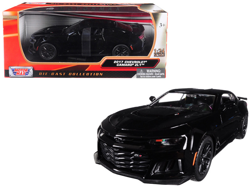 2017 Chevrolet Camaro ZL1 Black 1/24 Diecast Car Model Motormax 79351