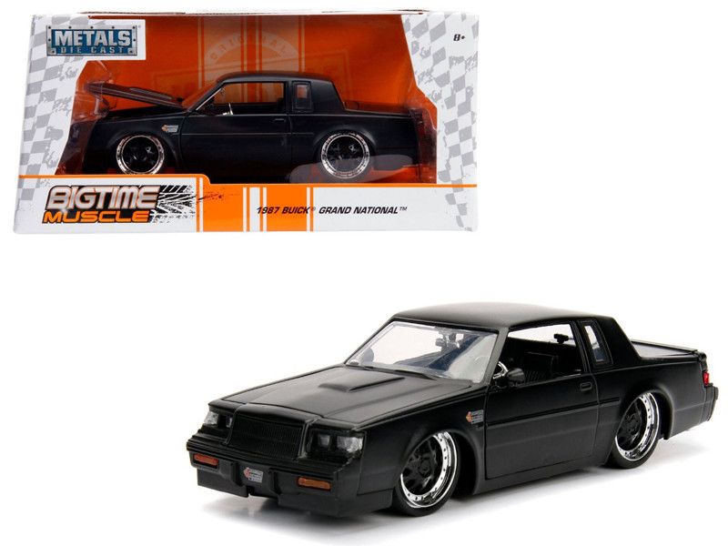 1987 Buick Grand National Matte Black 1/24 Diecast Model Car Jada 30342