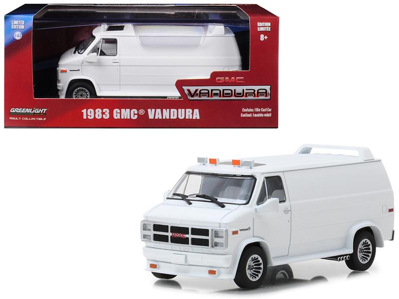 1983 GMC Vandura Custom White 1/43 Diecast Model Car Greenlight 86326