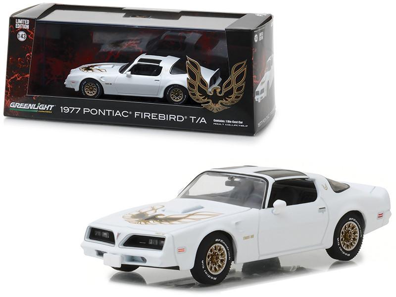 1977 Pontiac Firebird Trans Am Cameo White 1/43 Diecast Model Car Greenlight 86331