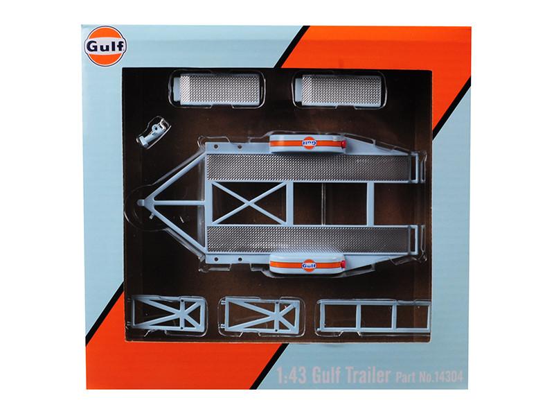 Tandem Car Trailer Tire Rack Gulf Oil 1/43 Scale Model Cars GMP 14304