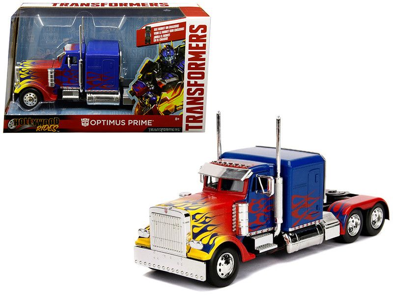Optimus Prime Truck Robot Chassis Transformers Movie Hollywood Rides Series Diecast Model Jada 30446