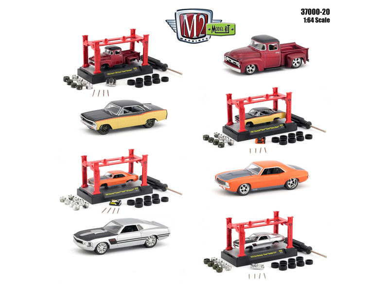 Model Kit 4 pieces Set Release 20 1/64 Diecast Model Cars M2 Machines 37000-20